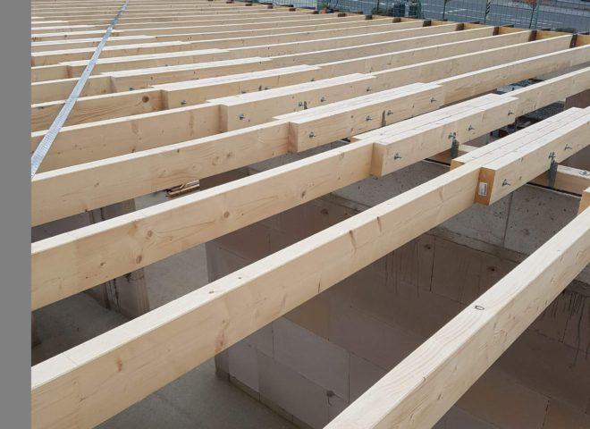 Unverkleidetes Dach