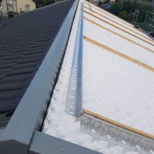 Ein Dach was mit Styropordämmung belagt wurde
